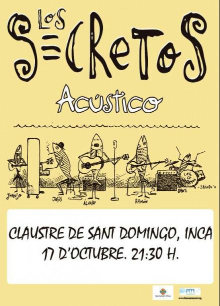 LOS SECRETOS y el Ayuntamiento de Inca se unen en un concierto benéfico a favor de los niños