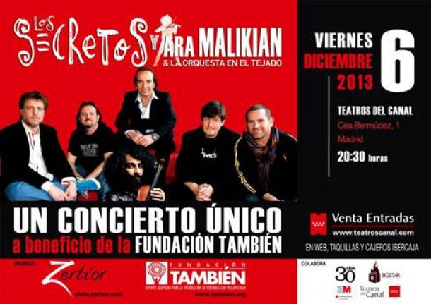 """Los Secretos, Ara Malikian y la Orquesta en el Tejado,  juntos por la """"Fundación También"""""""