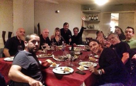 Cena fin del verano con toda la familia Secretos.